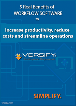 Versify Benefits of Workflow Business Process Improvement